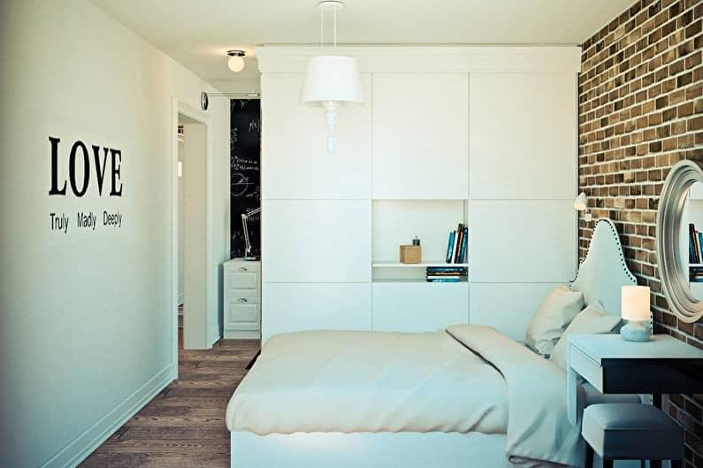 комната с кирпичной стеной