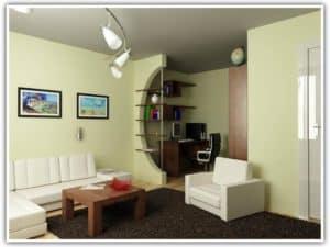 Зонирование пространства в маленькой комнате